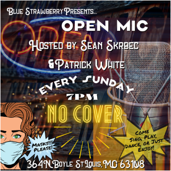 OPEN MIC Sundays 7pm to 10pm Come Sing, Play, Recite, Speak, Stand Up - Enjoy.